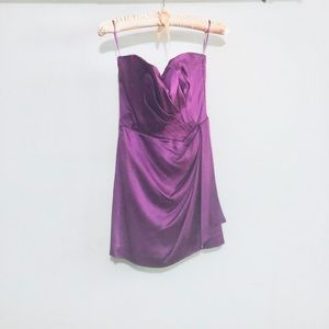 Alberta Ferretti purple silk strapless dress sz 2